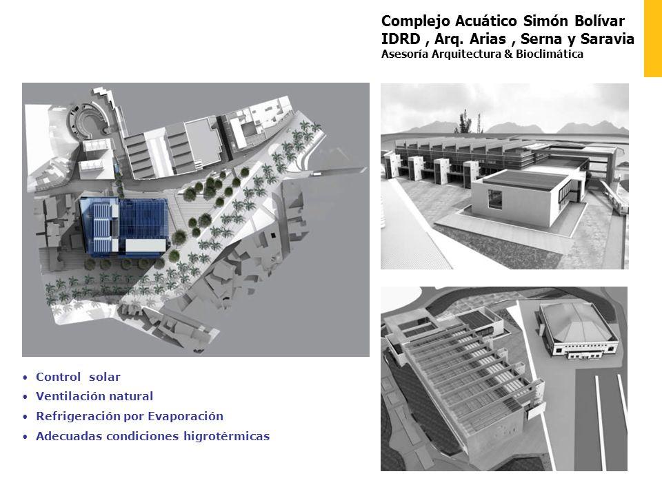 Complejo Acuático Simón Bolívar IDRD , Arq