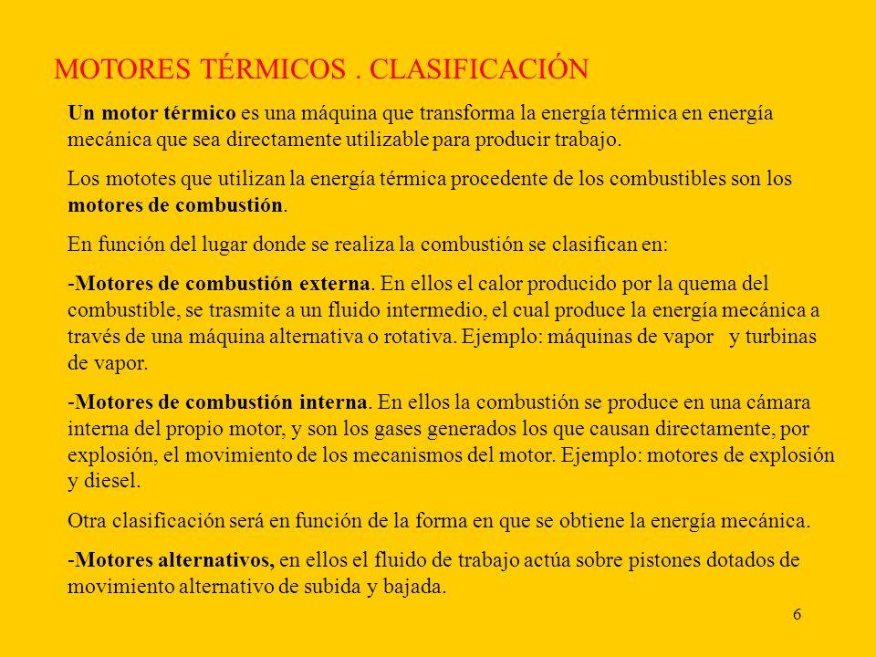 MOTORES TÉRMICOS . CLASIFICACIÓN