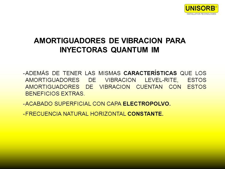 AMORTIGUADORES DE VIBRACION PARA INYECTORAS QUANTUM IM