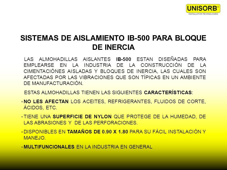 SISTEMAS DE AISLAMIENTO IB-500 PARA BLOQUE DE INERCIA