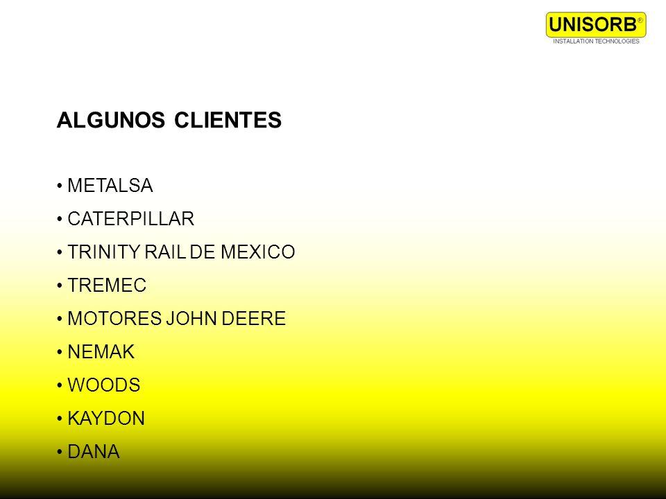 ALGUNOS CLIENTES METALSA CATERPILLAR TRINITY RAIL DE MEXICO TREMEC