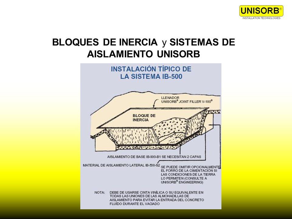 BLOQUES DE INERCIA y SISTEMAS DE AISLAMIENTO UNISORB