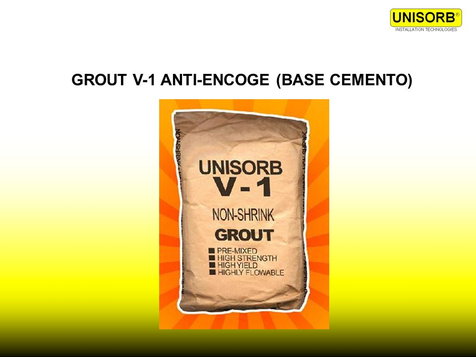 GROUT V-1 ANTI-ENCOGE (BASE CEMENTO)