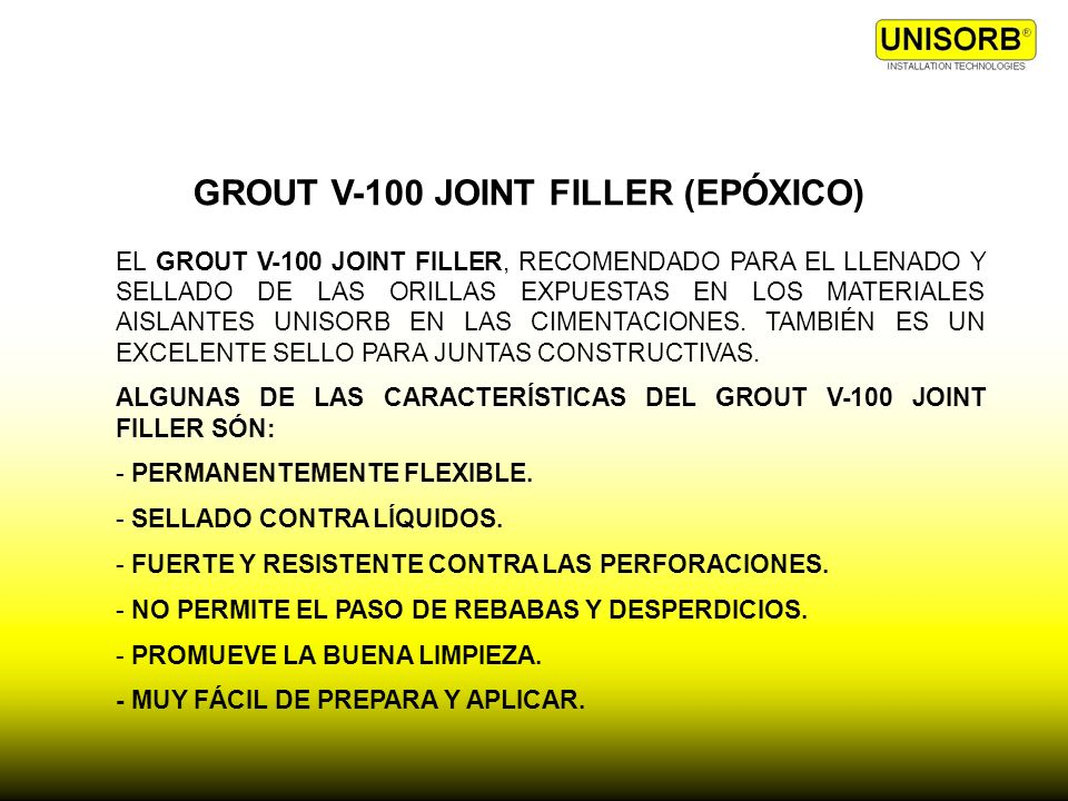 GROUT V-100 JOINT FILLER (EPÓXICO)