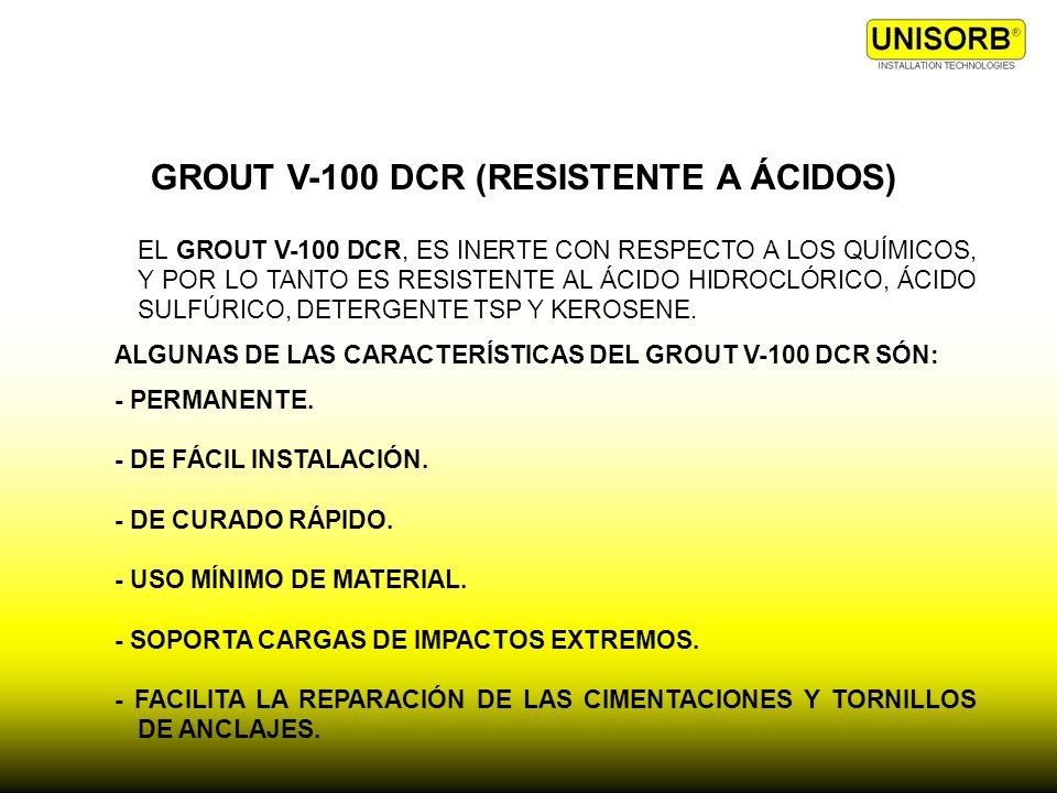 GROUT V-100 DCR (RESISTENTE A ÁCIDOS)