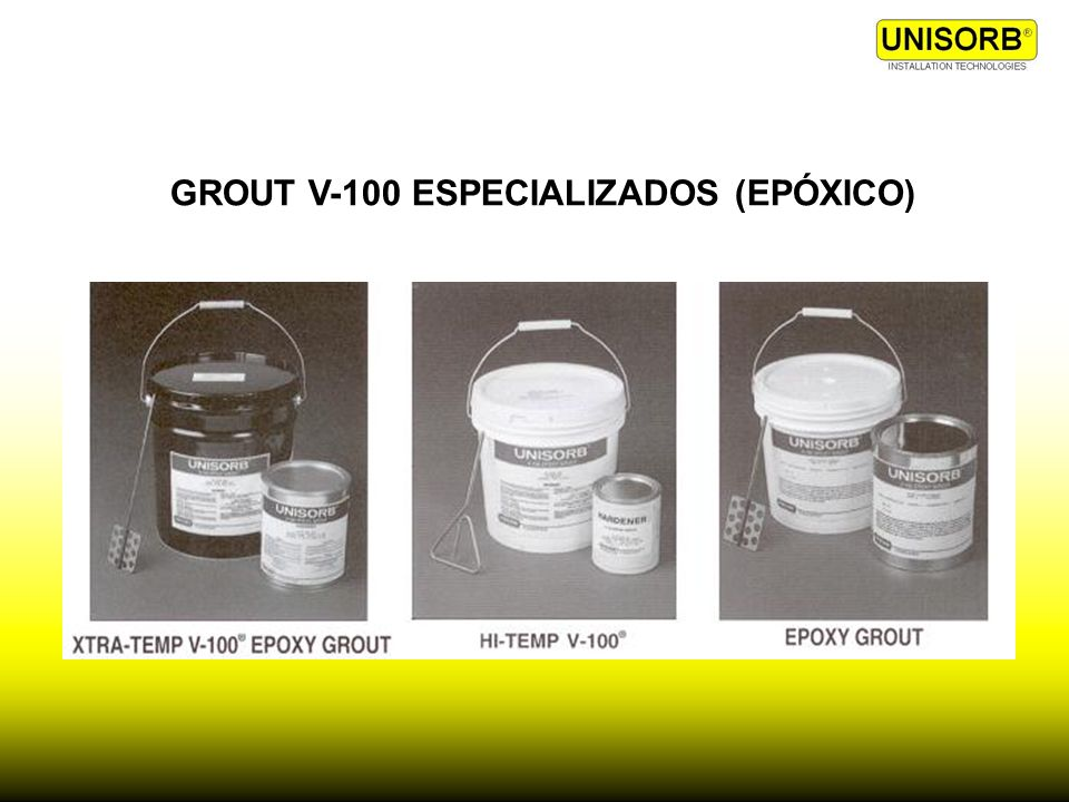 GROUT V-100 ESPECIALIZADOS (EPÓXICO)