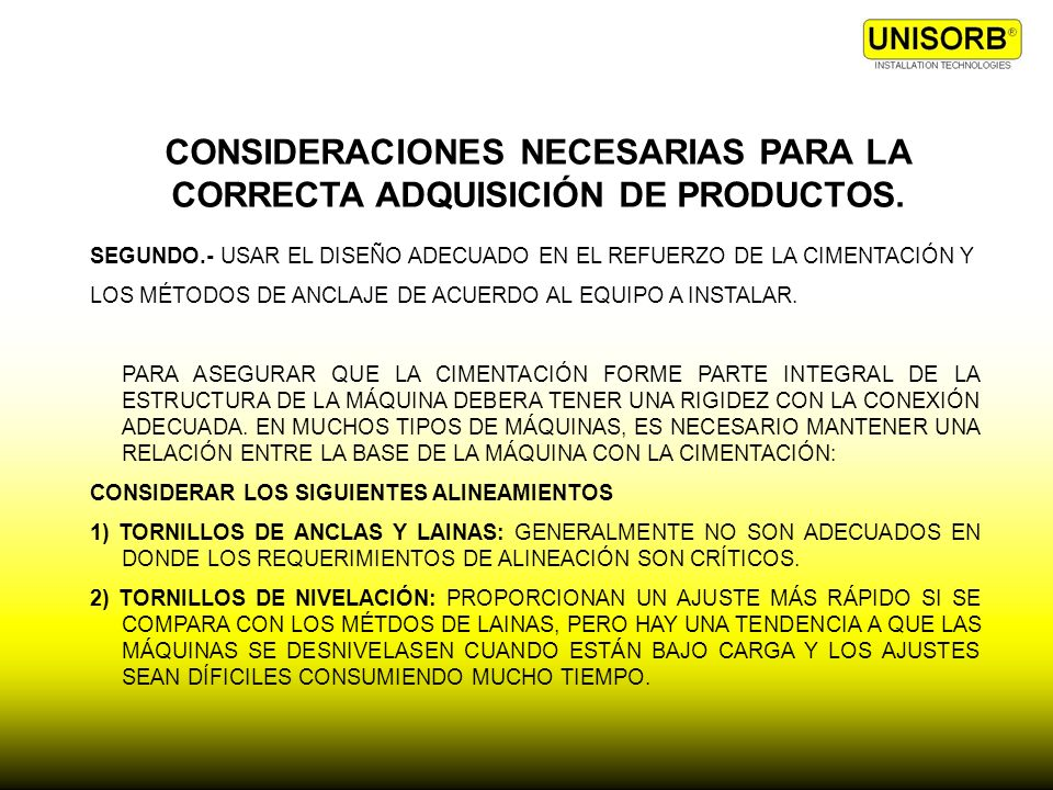 CONSIDERACIONES NECESARIAS PARA LA CORRECTA ADQUISICIÓN DE PRODUCTOS.
