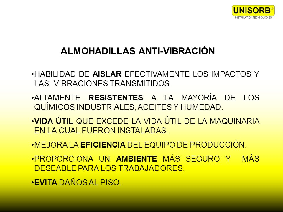 ALMOHADILLAS ANTI-VIBRACIÓN