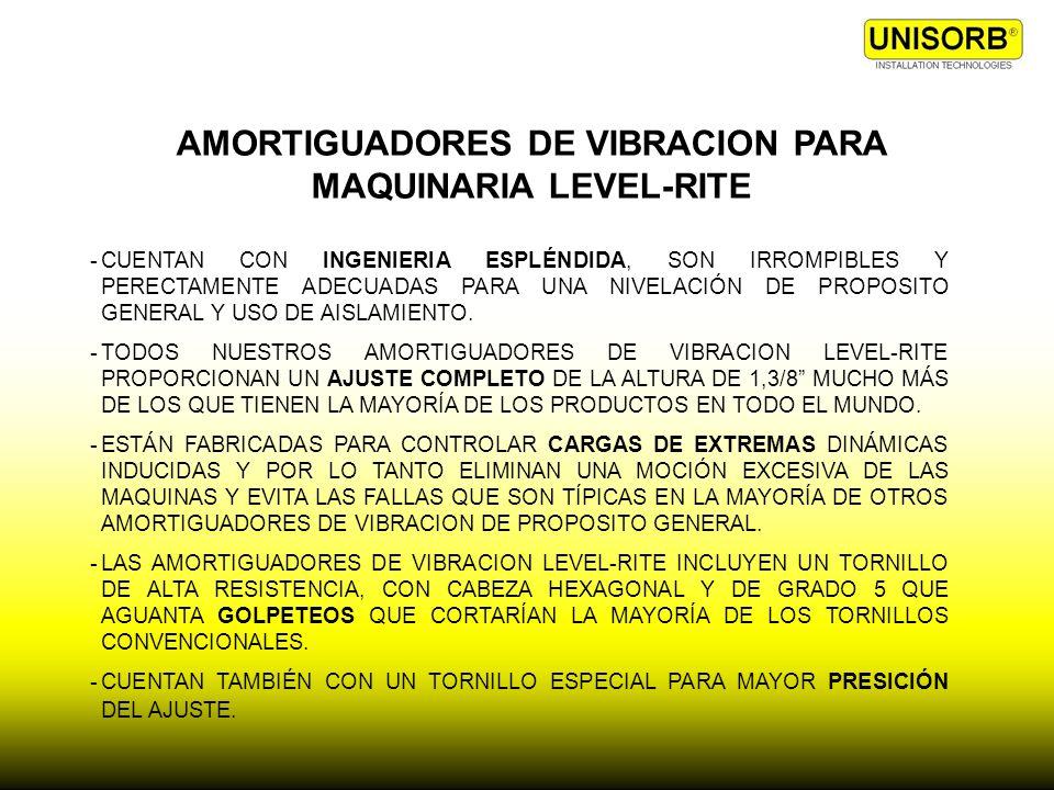 AMORTIGUADORES DE VIBRACION PARA MAQUINARIA LEVEL-RITE