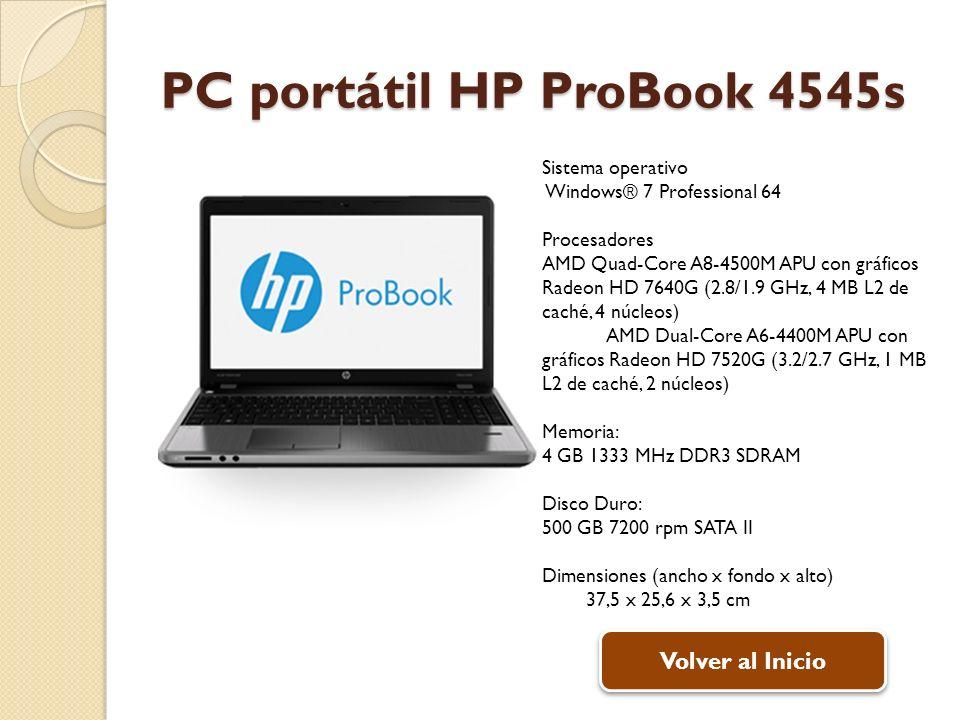 PC portátil HP ProBook 4545s