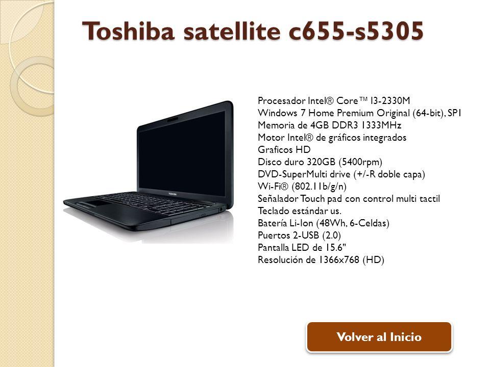 Toshiba satellite c655-s5305 Volver al Inicio