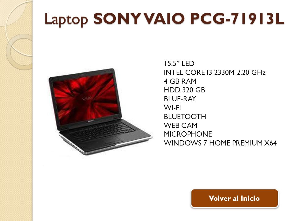 Laptop SONY VAIO PCG-71913L