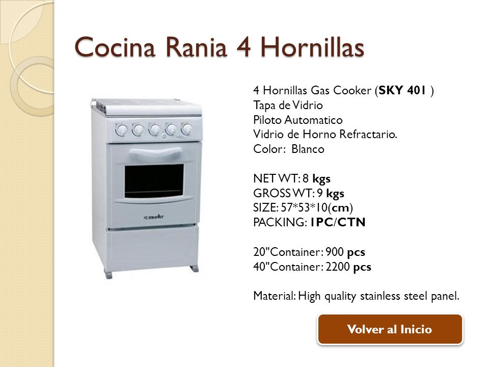 Cocina Rania 4 Hornillas
