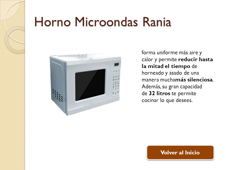 Horno Microondas Rania