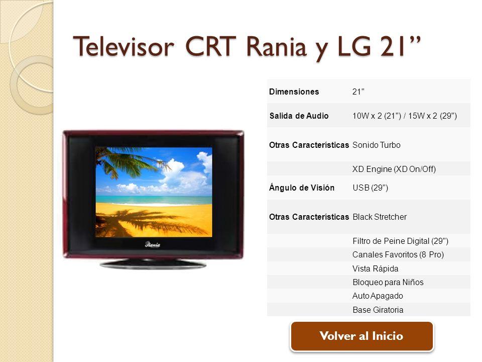 Televisor CRT Rania y LG 21