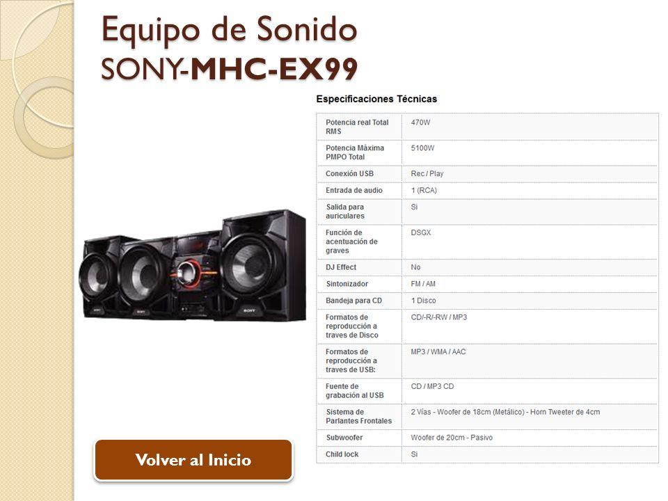 Equipo de Sonido SONY-MHC-EX99