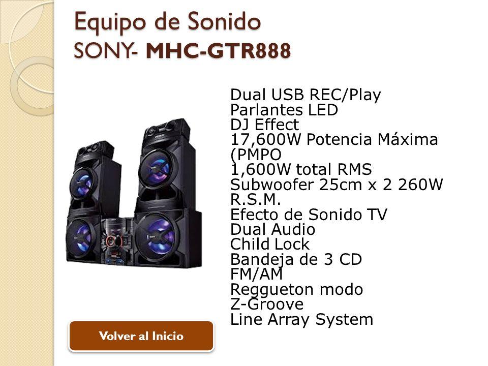 Equipo de Sonido SONY- MHC-GTR888