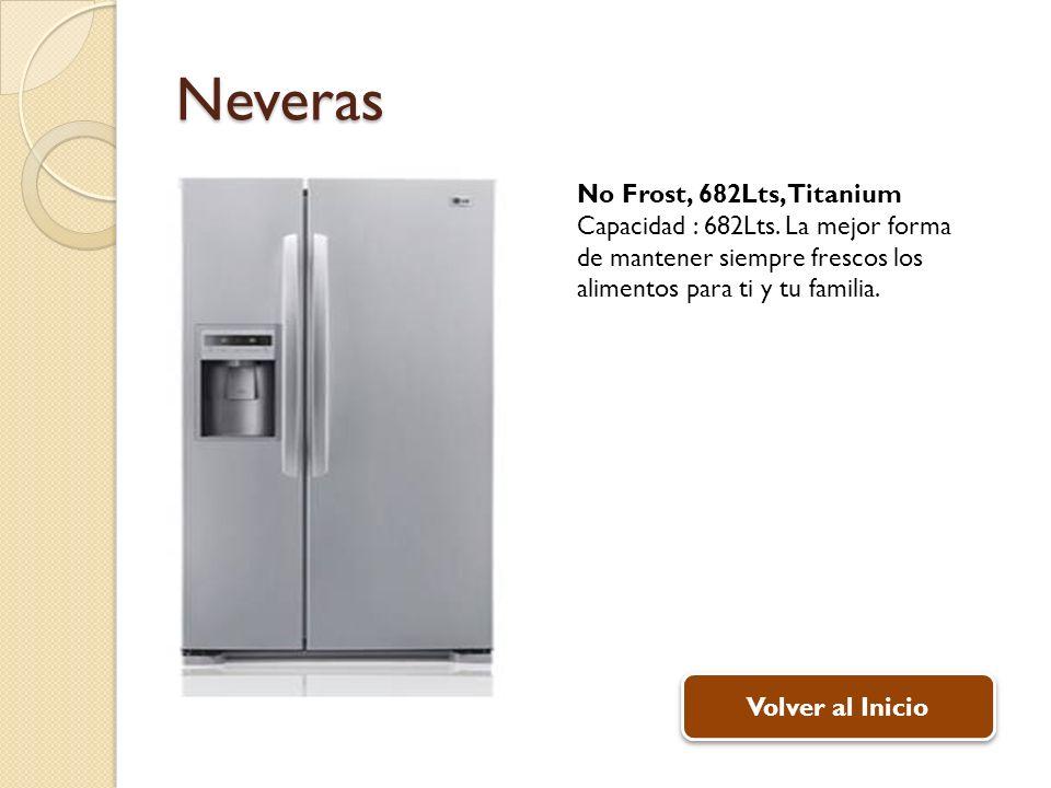 Neveras No Frost, 682Lts, Titanium