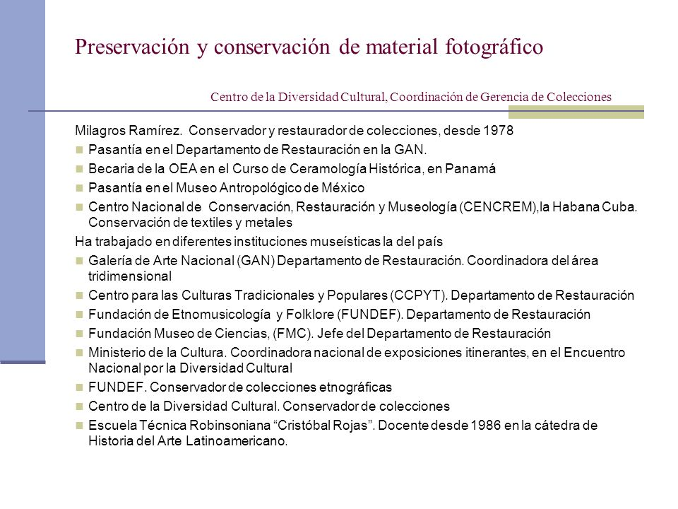 Preservación y conservación de material fotográfico