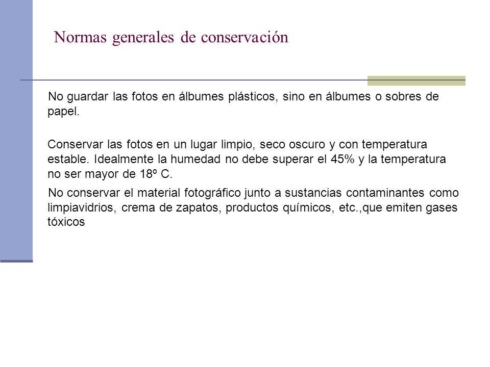Normas generales de conservación