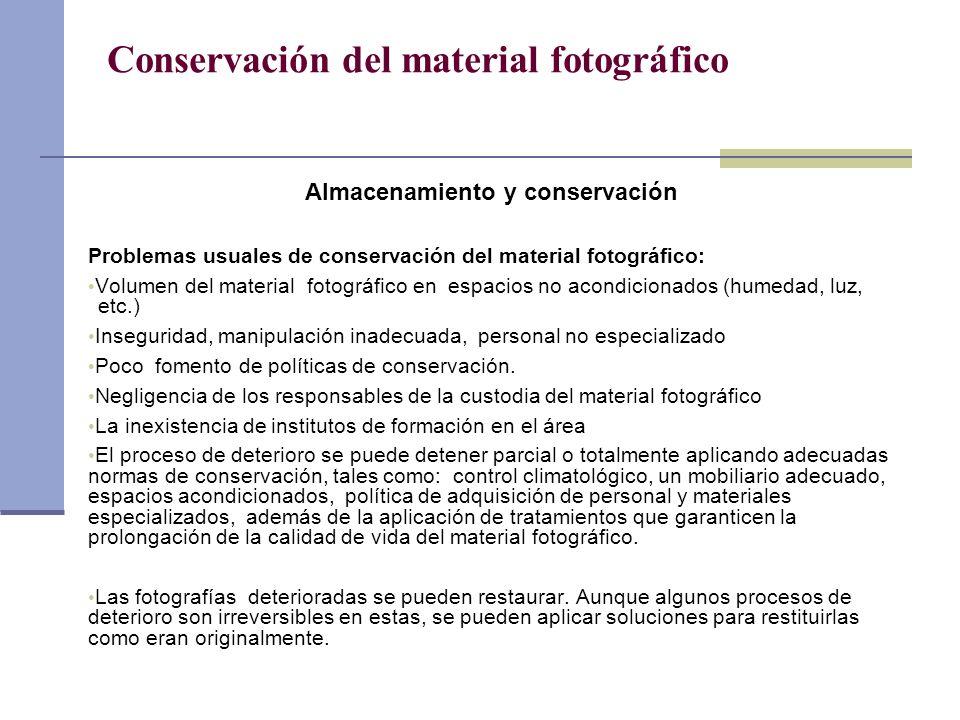 Conservación del material fotográfico