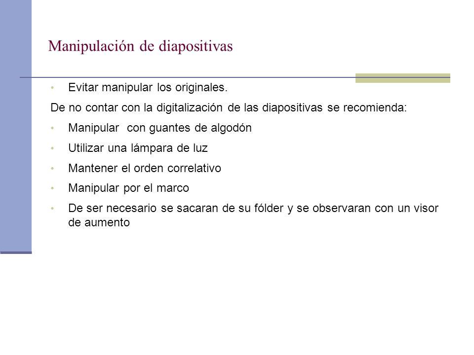 Manipulación de diapositivas
