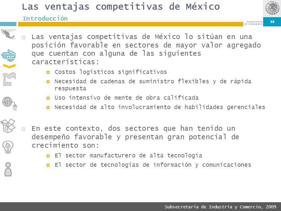 Las ventajas competitivas de México