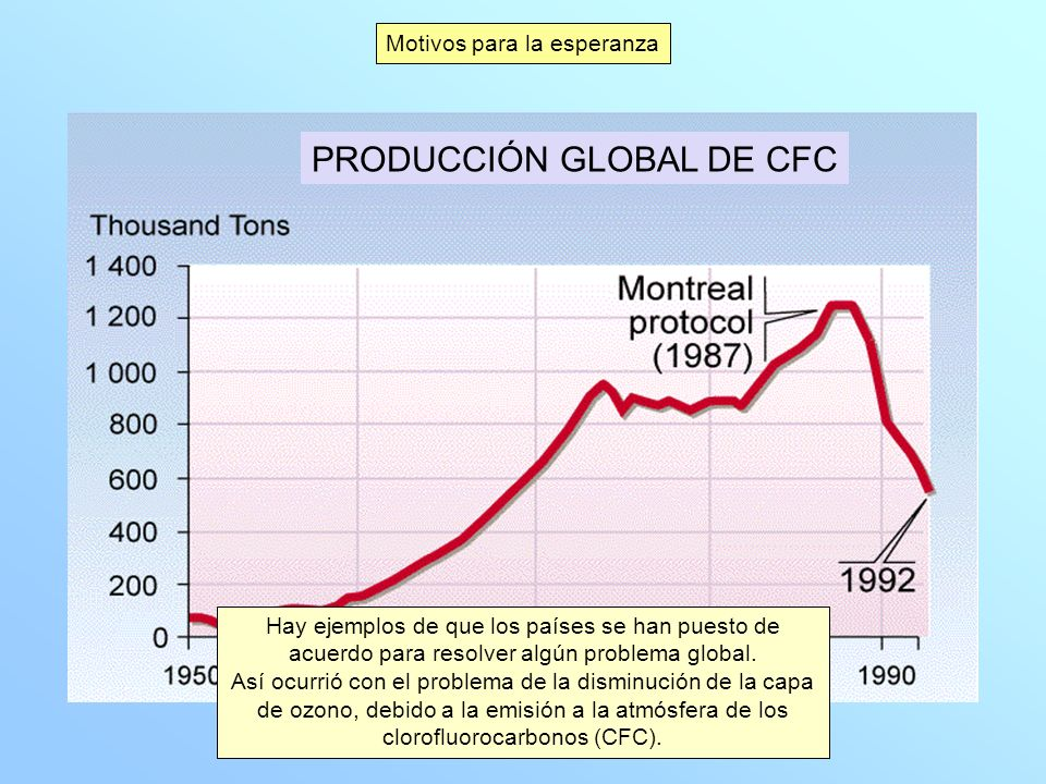 PRODUCCIÓN GLOBAL DE CFC