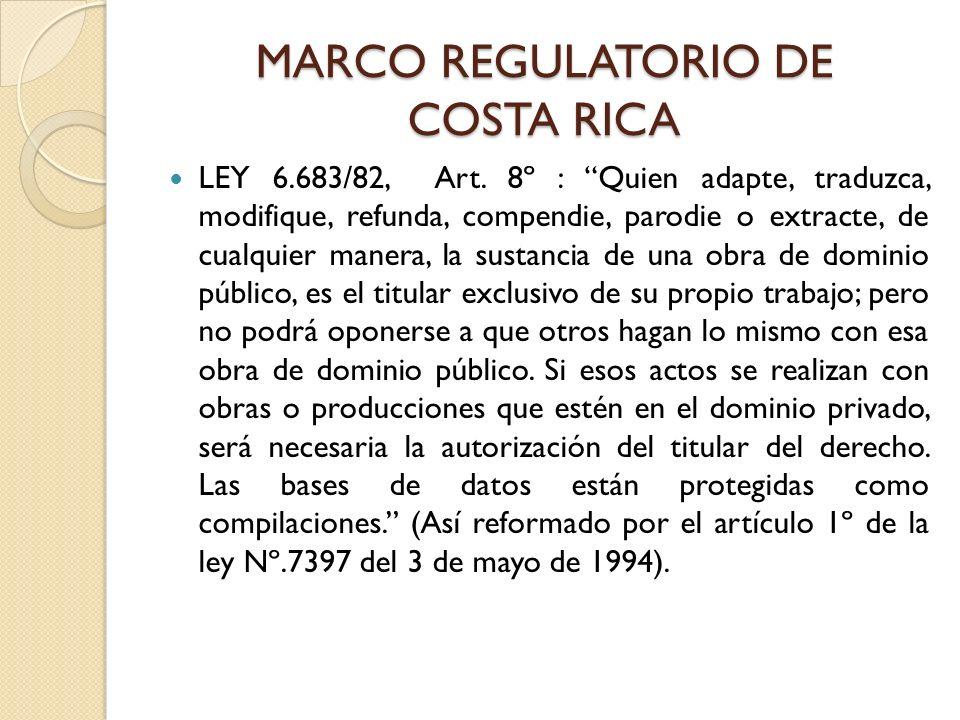 MARCO REGULATORIO DE COSTA RICA