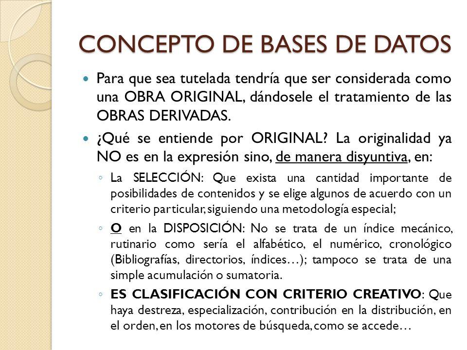 CONCEPTO DE BASES DE DATOS