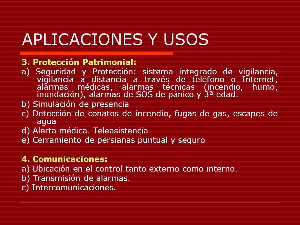 APLICACIONES Y USOS 3. Protección Patrimonial: