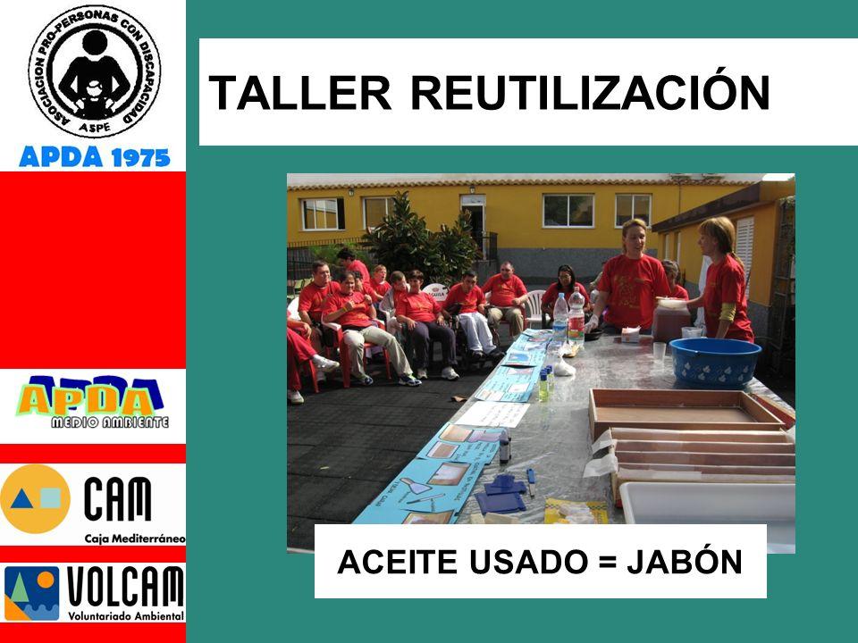 TALLER REUTILIZACIÓN ACEITE USADO = JABÓN