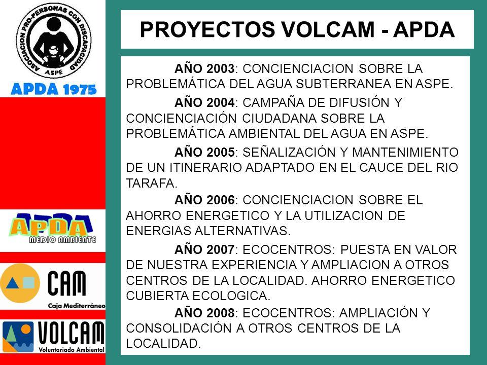 PROYECTOS VOLCAM - APDA