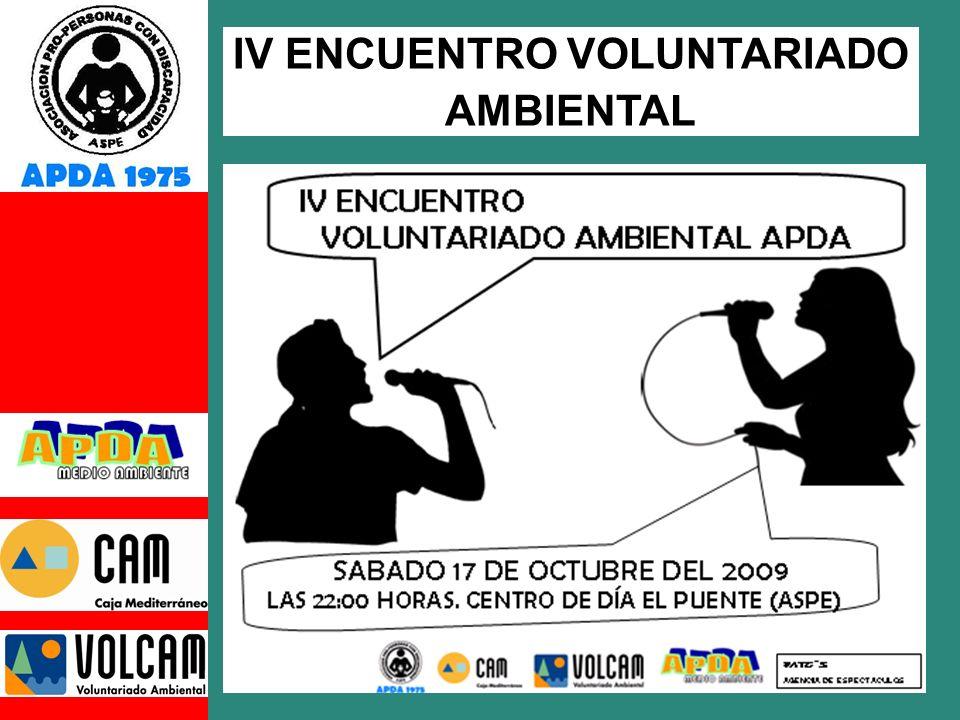 IV ENCUENTRO VOLUNTARIADO AMBIENTAL