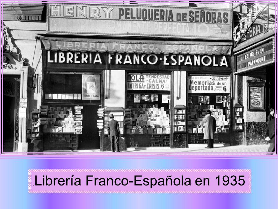 .Librería Franco-Española en 1935
