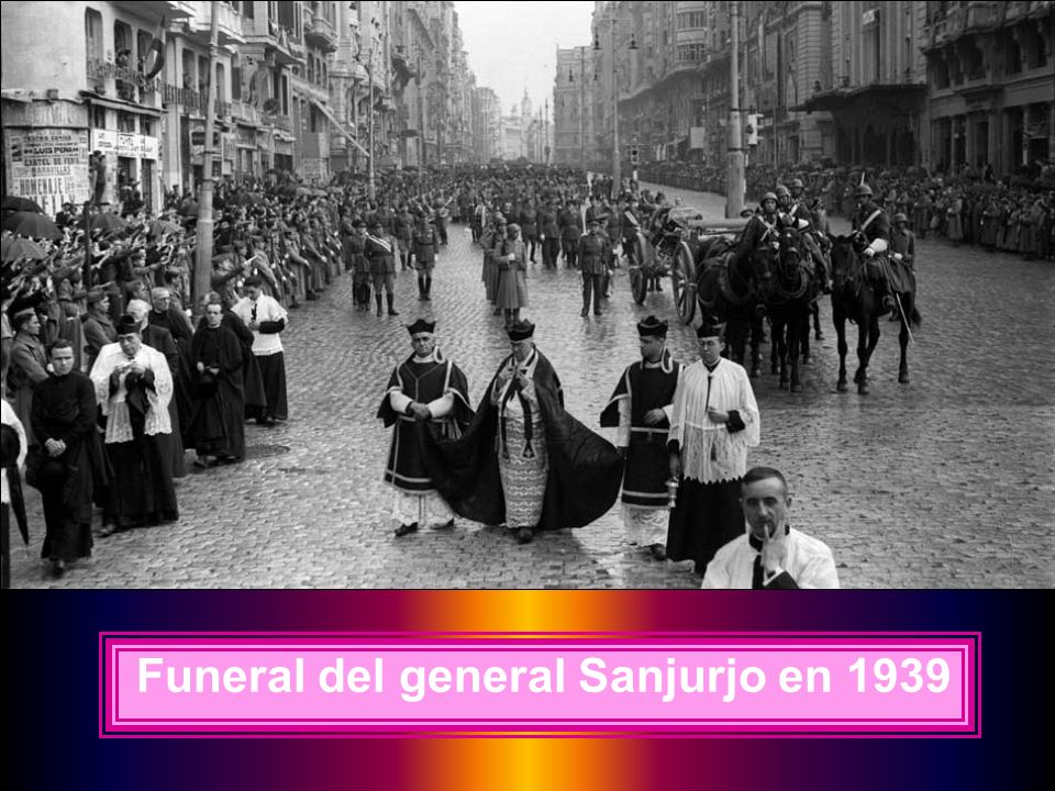 Funeral del general Sanjurjo en 1939