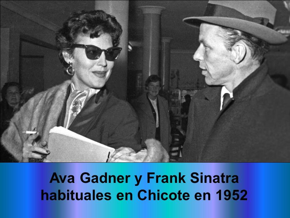 Ava Gadner y Frank Sinatra habituales en Chicote en 1952