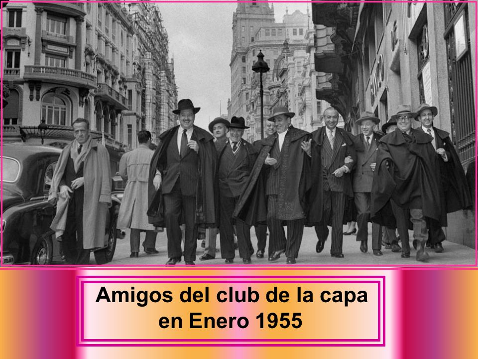 Amigos del club de la capa en Enero 1955