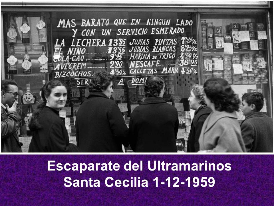 Escaparate del Ultramarinos Santa Cecilia 1-12-1959