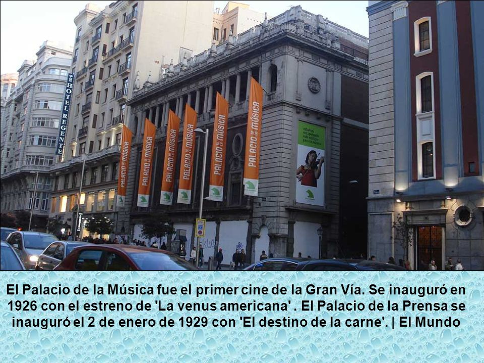 El Palacio de la Música fue el primer cine de la Gran Vía