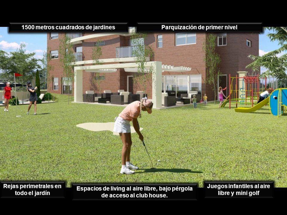 1500 metros cuadrados de jardines Parquización de primer nivel