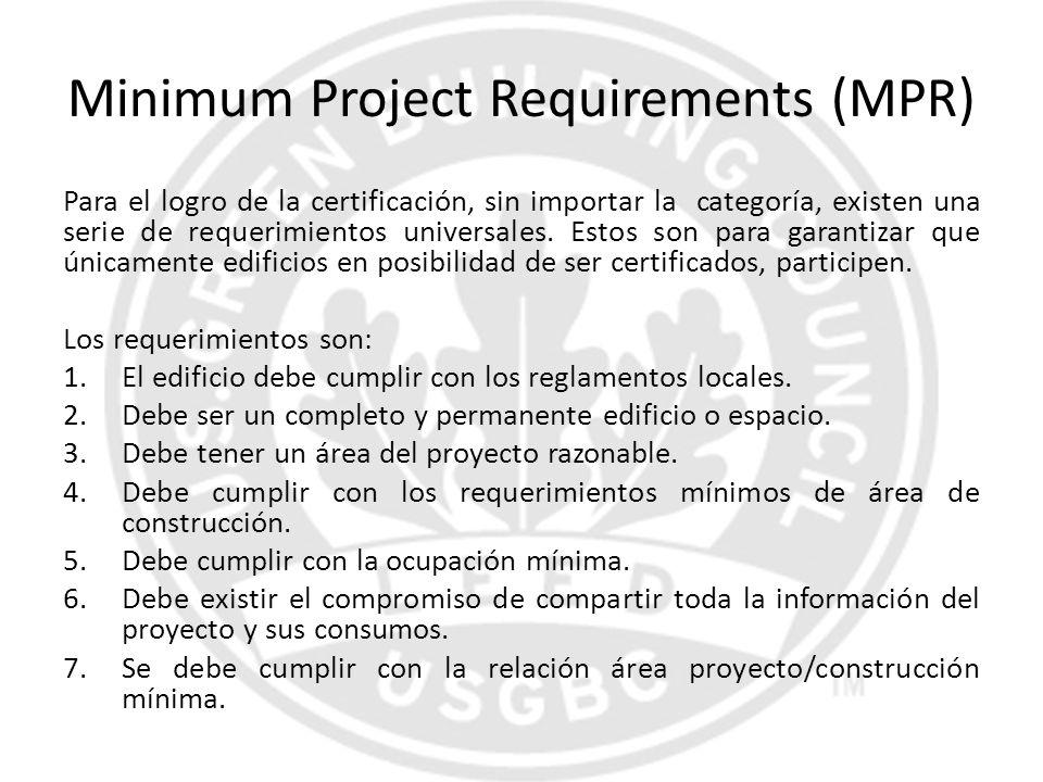 Minimum Project Requirements (MPR)