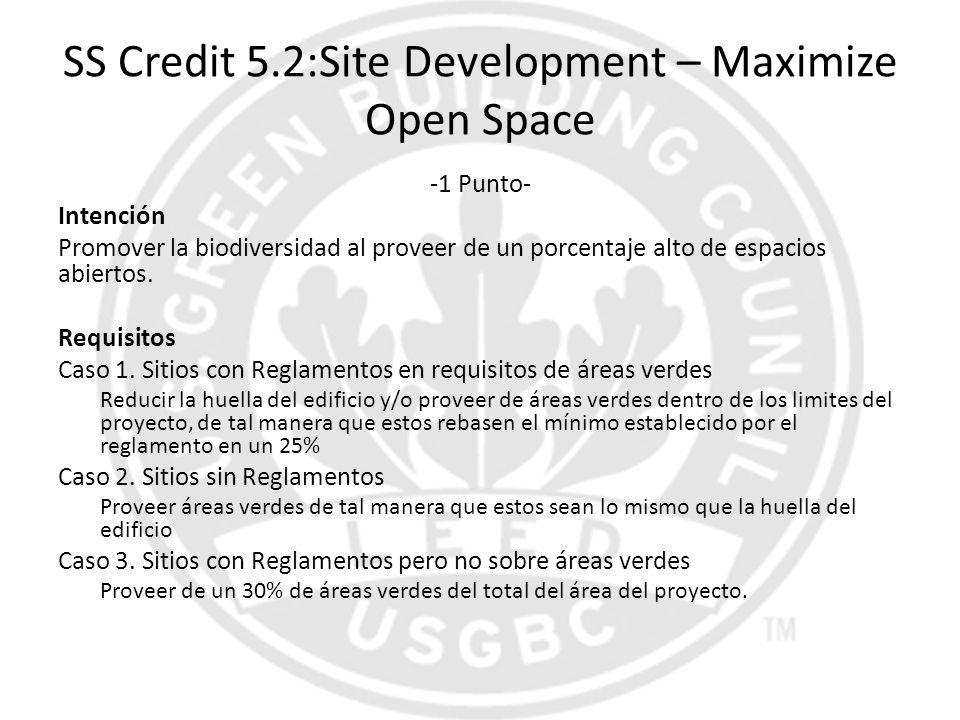 SS Credit 5.2:Site Development – Maximize Open Space