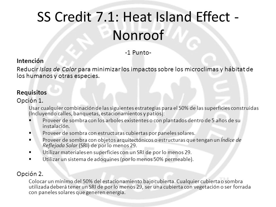 SS Credit 7.1: Heat Island Effect - Nonroof