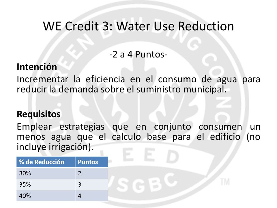 WE Credit 3: Water Use Reduction