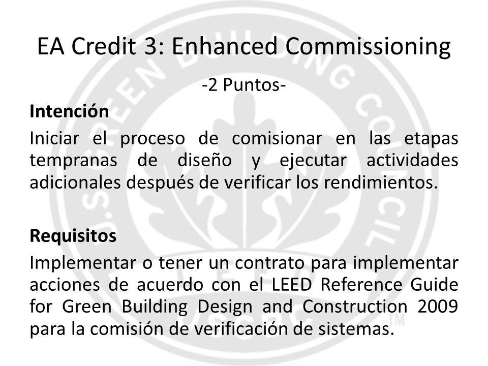 EA Credit 3: Enhanced Commissioning