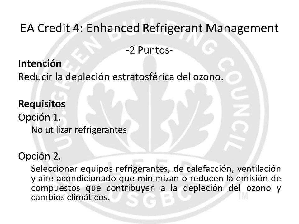 EA Credit 4: Enhanced Refrigerant Management