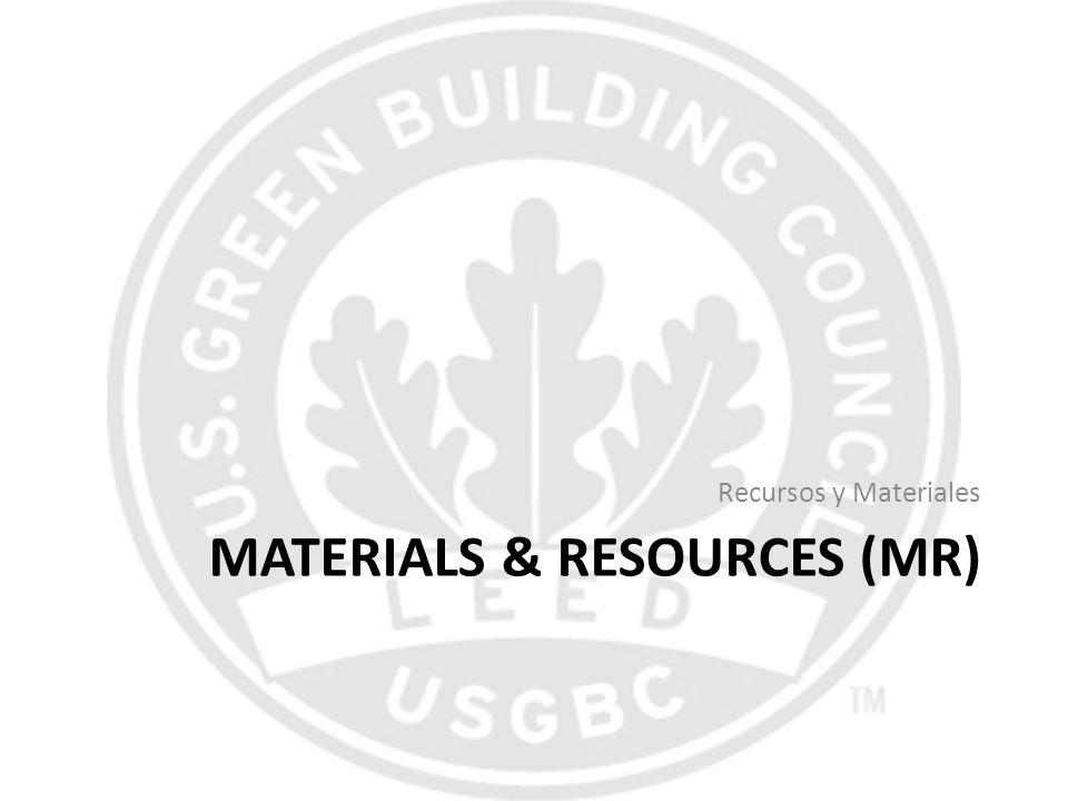 Materials & Resources (MR)