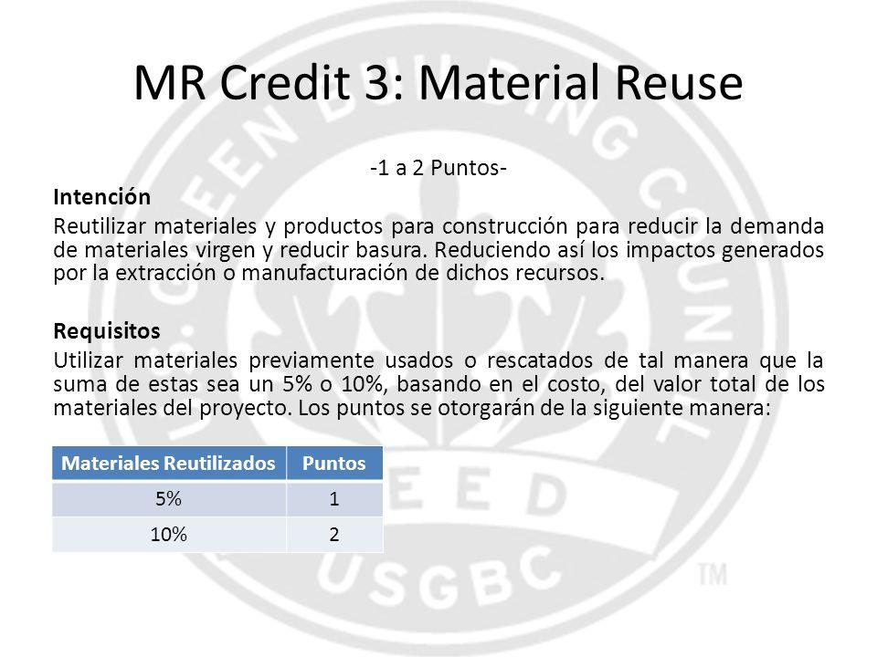 MR Credit 3: Material Reuse