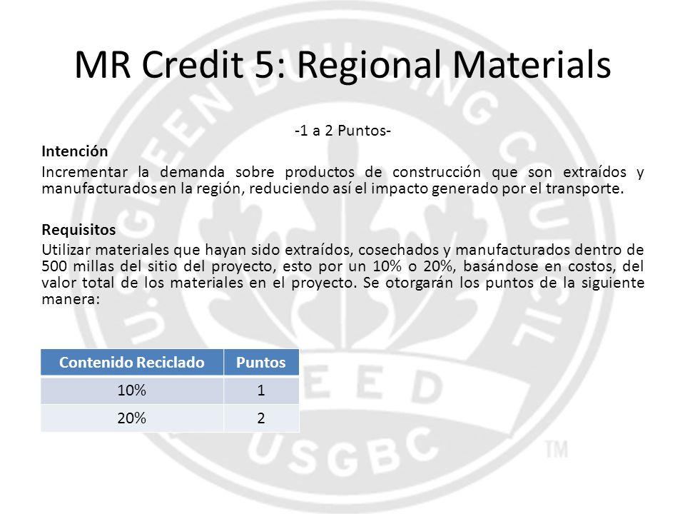MR Credit 5: Regional Materials